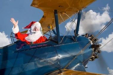 Santa in plane. (Image: Lone Star Museum, TX)